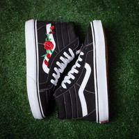 Vans & AMAC Customs Rose Embroidered casual shoes