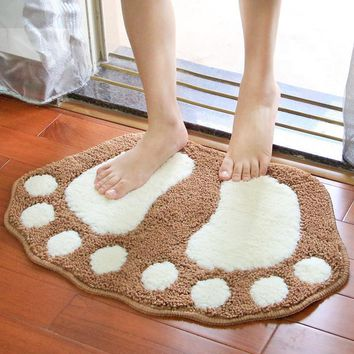 Autumn Fall welcome door mat doormat Lovely Bigfoot Ground Mats 1Pc Home Waterproof Kitchen Mat Easy To Clean Non-slip  Living Room Bedroom Decoration AT_76_7