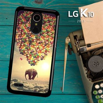 Elephant And Balloon V1482 LG K10 2017 / LG K20 Plus / LG Harmony Case