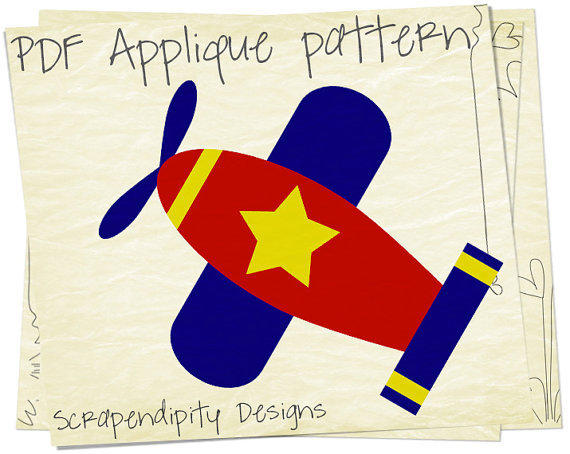Airplane Applique Pattern Baby Applique From