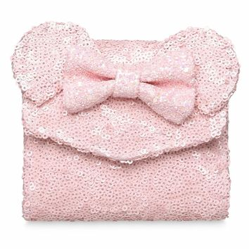 Disney Minnie Mouse Mini Pink Sequined Wallet by Loungefly New with Tags