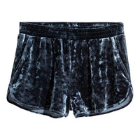 Crushed-velvet Shorts - from H&M