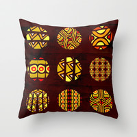 africa planets Throw Pillow by hardkitty