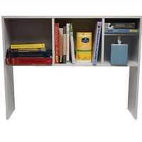 The College Cube - Dorm Desk Bookshelf - White Upper Desk Shelving