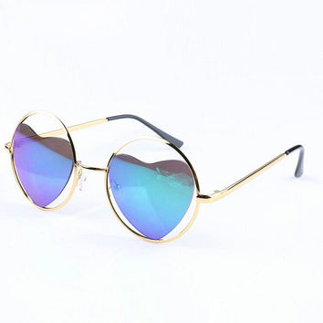 Fashion heart-shaped sunglasses