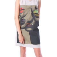 Kiss Me Jersey Dress - Gray