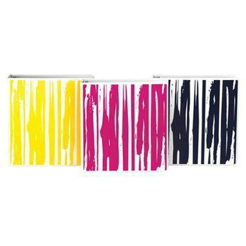 "Fashion Binder Streaks 1"" 6pk"