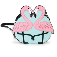 Pink Flamingo Love Shoulder Crossbody Bag