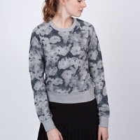 Floral Print Look Back Sweatshirt