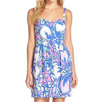 Women's Lilly Pulitzer 'Christine' Print Twill Fit & Flare Dress,