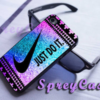 colorful sparkle aztec nike just do it case iphone 4/4s case, iphone 5 case, iphone 5s case, iphone 5c case, samsung galaxy s3/s4/s5 case