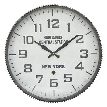 Three Hands Grand Central Station Metal Wall Clock -- 23-in