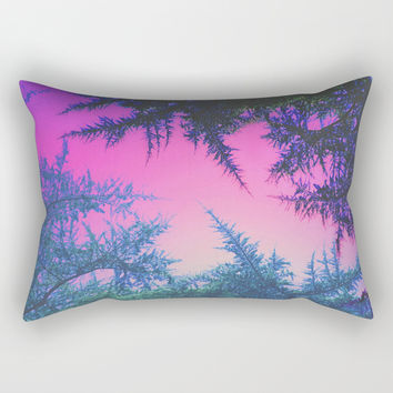 Crossover Rectangular Pillow by duckyb
