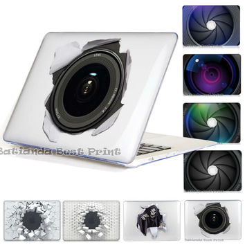 Camera LENS Clear Case For Apple Macbook Air 13 Case Air 11 Retina 12 13 15 Laptop Bag For Mac Book Pro With retina 13
