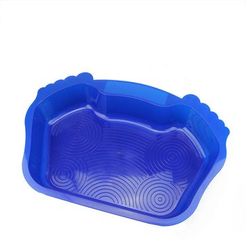 "21.75"" Blue Anti-Skid Swimming Pool or Spa Textured Foot Bath"