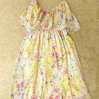 Scattered Summer Garden Dress [2564] - $34.00 : Vintage Inspired Clothing & Affordable Summer Dresses, deloom | Modern. Vintage. Crafted.