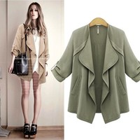 Autumn Stylish Fashion Two Color Bodycons Jacket [22465380378]