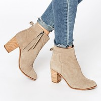 TOMS Taupe Suede Ankle Boots