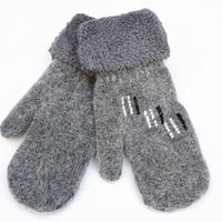 2015 New Arrival Adult Women Fashion Wrist Patchwork Embroidery Warm Gloves & Mittens = 1958052420