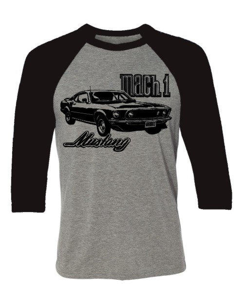 Muscle Car T Shirt Mach 1 Mustang From Spokenwheelz Muscle