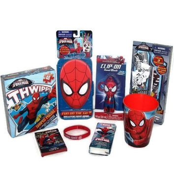 Spider-man Gift Set Coloring Activity Stickers Puzzle Crayons Poster Silicone Bracelet Hand Wash Tissue Bundle