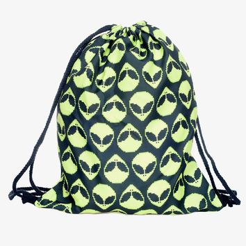 Green Alien 3d Printing Drawstring Bags Who Cares Brand Women's Backpack Mochilas Eastpack School Bags for Teenagers Sac A Dos