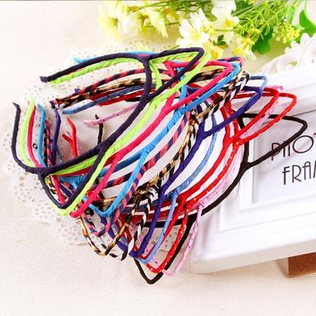 New Arrival Korean 12 Colors Cat Ears Headband Leopard Hairbands For Women Cute Girls Self Photo Pro Head Bands Hair Accessories
