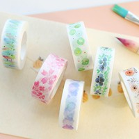 1.5cm*7m cute fresh watercolor washi tape DIY decoration scrapbooking planner masking tape label sticker stationery