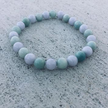 Howlite - Magnesite Beaded Bracelet - Gemstone Intention Bracelets - Yoga - Meditation Bracelet - Gifts for Her - Natural Gift - Minimal