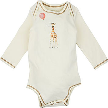 Long Sleeve Unisex Baby Onesuit w/ Imprints Giraffe