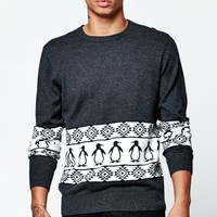 On The Byas Skip Crew Neck Sweater - Mens Sweater - Black