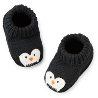 Holiday Crocheted Penguin Booties