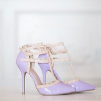 Triple Decker Edge Heels Lilac