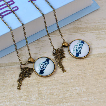 Vintage THELMA LOUISE Best Friend Necklaces