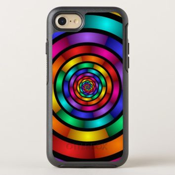 Round and Psychedelic Colorful Modern Fractal Art OtterBox Symmetry iPhone 8/7 Case