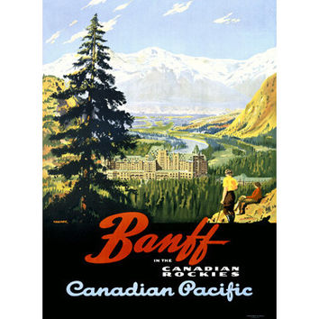 Canadian Pacific Banff Railway Wood Sign