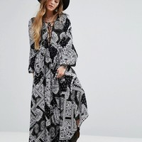 Glamorous Maxi Dress In Boho Paisley at asos.com