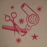 Hair Stylist Beauty Salon Pink Decal sticker Car