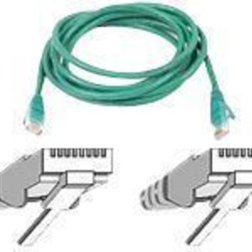 Belkin Components 3ft Cat6 Snagless Patch Cable, Utp, Green Pvc Jacket, 23awg, 50 Micron, Gold Pla