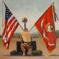 The Real Price Of Freedom Usmc Painting by Betty Ann Morris - The Real Price Of Freedom Usmc Fine Art Prints and Posters for Sale