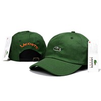 LACOSTE Women Men Fashion Embroidery Adjustable Travel Hat Sport Cap