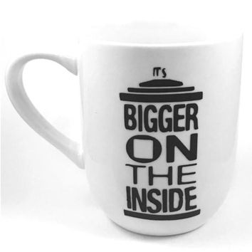 It's Bigger On The Inside Heat Transfer Vinyl Coffee Mug Handmade Doctor Who Cup