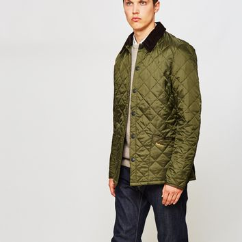 barbour mens liddesdale quilted jacket