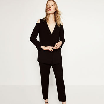 CUT - OUT SHOULDER BLAZER-BLAZERS-WOMAN | ZARA United Kingdom