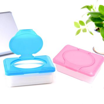Plastic Wet Tissue Paper Case Baby Wipes Storage Box Holder Container Houseware