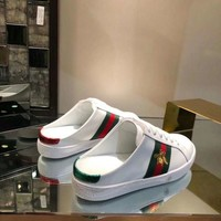 Ready Stock Gucci Women's Leather Fashion Sneakers Shoes #846