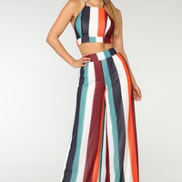 Never Be The Same Tropical Set - Multi Stripe