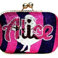 Crystal Alice In Wonderland Clutch