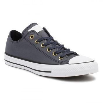converse all star chuck taylor mens ox obsidian white black trainers