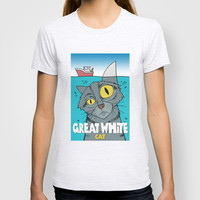 Great White Cat T-shirt by Douglas Simonson
